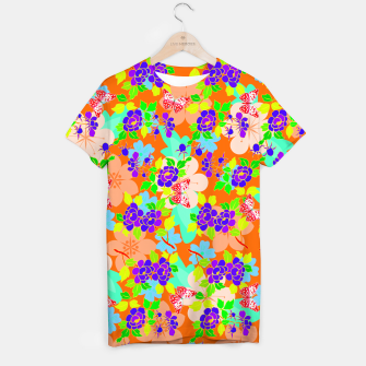 Thumbnail image of Abstract Flowers & Butterflies  T-shirt, Live Heroes