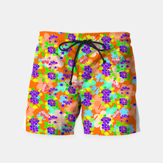 Thumbnail image of Abstract Flowers & Butterflies  Swim Shorts, Live Heroes