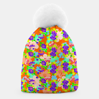 Thumbnail image of Abstract Flowers & Butterflies  Beanie, Live Heroes