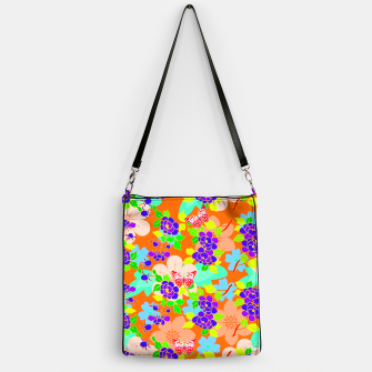 Thumbnail image of Abstract Flowers & Butterflies  Handbag, Live Heroes