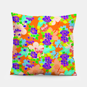 Thumbnail image of Abstract Flowers & Butterflies  Pillow, Live Heroes