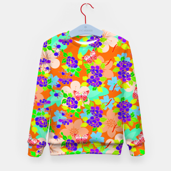 Thumbnail image of Abstract Flowers & Butterflies  Kid's Sweater, Live Heroes