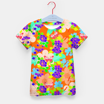 Thumbnail image of Abstract Flowers & Butterflies  Kid's T-shirt, Live Heroes
