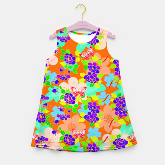 Thumbnail image of Abstract Flowers & Butterflies  Girl's Summer Dress, Live Heroes