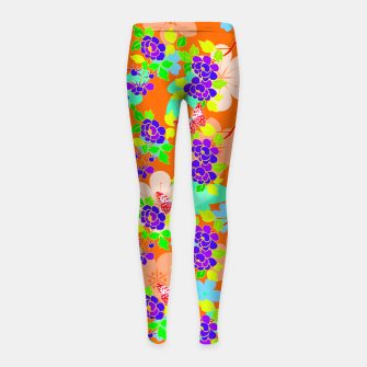 Thumbnail image of Abstract Flowers & Butterflies  Girl's Leggings, Live Heroes