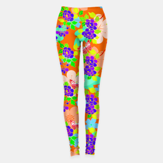 Thumbnail image of Abstract Flowers & Butterflies  Leggings, Live Heroes