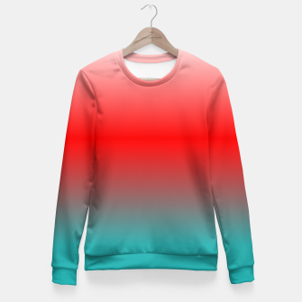 Thumbnail image of Harajuku TurquoiseRED Fitted Waist Sweater, Live Heroes