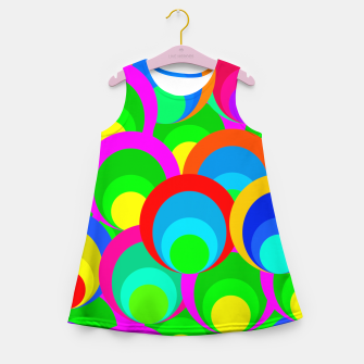 Miniaturka 60s Funky Circles  Girl's Summer Dress, Live Heroes