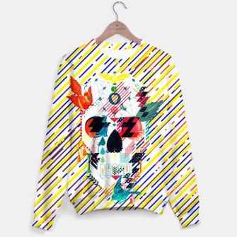 Thumbnail image of Abstract Skull Sweater, Live Heroes