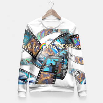 Thumbnail image of Be Kind Dolphin Photofilm  Fitted Waist Sweater, Live Heroes