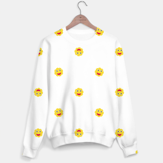 Thumbnail image of Happy Sun Motif Kids Pattern Sweater, Live Heroes