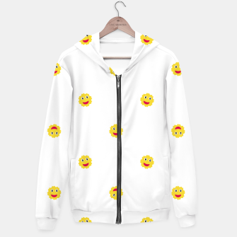 Thumbnail image of Happy Sun Motif Kids Pattern Hoodie, Live Heroes