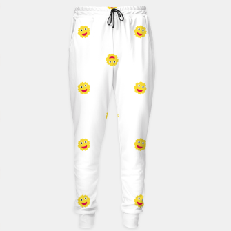 Thumbnail image of Happy Sun Motif Kids Pattern Sweatpants, Live Heroes