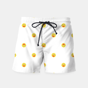 Thumbnail image of Happy Sun Motif Kids Pattern Swim Shorts, Live Heroes