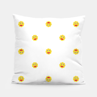 Thumbnail image of Happy Sun Motif Kids Pattern Pillow, Live Heroes