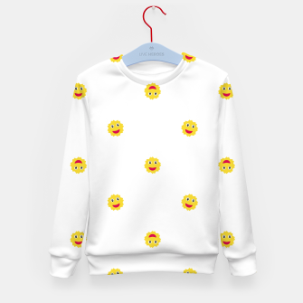 Thumbnail image of Happy Sun Motif Kids Pattern Kid's Sweater, Live Heroes