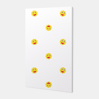 Thumbnail image of Happy Sun Motif Kids Pattern Canvas, Live Heroes