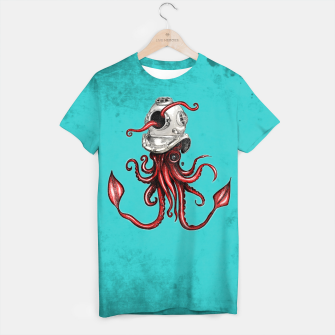 Thumbnail image of Squid with Diving Helmet T-shirt, Live Heroes