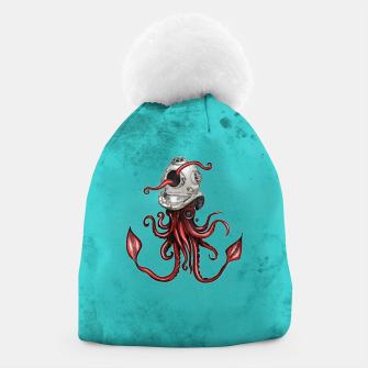 Thumbnail image of Squid with Diving Helmet Beanie, Live Heroes