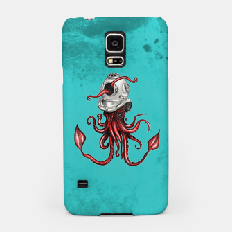Thumbnail image of Squid with Diving Helmet Samsung Case, Live Heroes