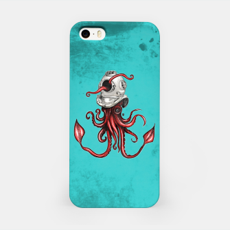 Thumbnail image of Squid with Diving Helmet iPhone Case, Live Heroes