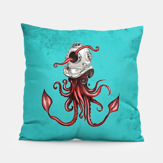 Thumbnail image of Squid with Diving Helmet Pillow, Live Heroes