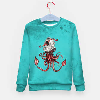 Thumbnail image of Squid with Diving Helmet Kid's Sweater, Live Heroes