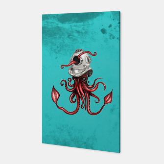 Thumbnail image of Squid with Diving Helmet Canvas, Live Heroes