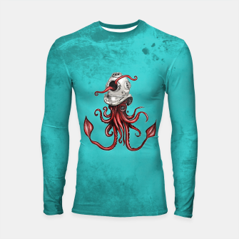 Thumbnail image of Squid with Diving Helmet Longsleeve Rashguard , Live Heroes