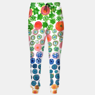 Thumbnail image of Playful Green Stars and Colorful Circles Pattern  Sweatpants, Live Heroes