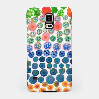 Thumbnail image of Playful Green Stars and Colorful Circles Pattern  Samsung Case, Live Heroes