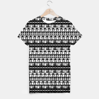 Thumbnail image of Black and White Space Wars Ultimate Ugly Christmas Sweater T-shirt, Live Heroes