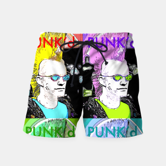 Thumbnail image of PUNK'd Popart Swim Shorts, Live Heroes