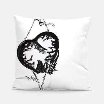 Thumbnail image of Love love love calligraphy Yulia cntr Pillow, Live Heroes