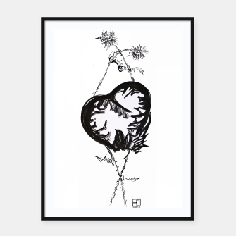 Thumbnail image of Love love love calligraphy Yulia cntr Framed poster, Live Heroes