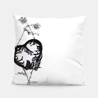 Thumbnail image of Love love love calligraphy Yulia lft Pillow, Live Heroes