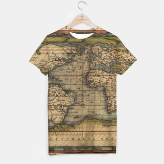 Thumbnail image of World Map Ortelius Typus Orbis Terrarum 1564 Vintage World T-shirt, Live Heroes