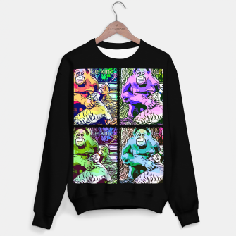 Thumbnail image of Be Kind Orangutan & tiger popart Sweater regular, Live Heroes