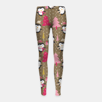Thumbnail image of Christmas Pattern Kinder-Leggins, Live Heroes