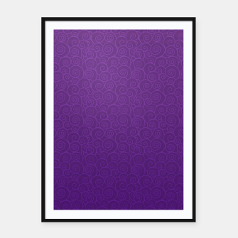 Thumbnail image of Mei Skin Heliotrope Pattern Framed poster, Live Heroes
