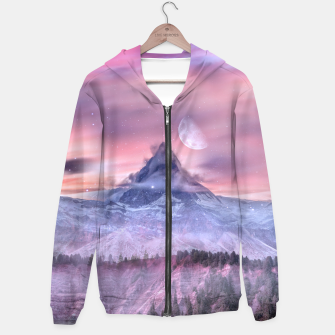 Thumbnail image of Moon Mountain Zip up hoodie, Live Heroes
