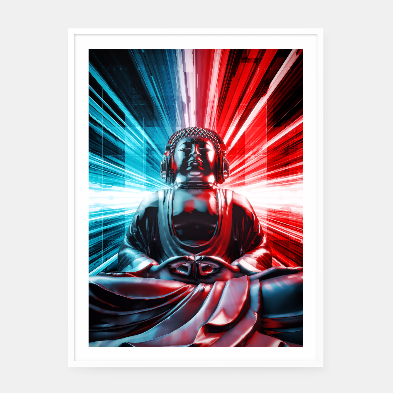 Image of Techno Buddha Framed poster - Live Heroes