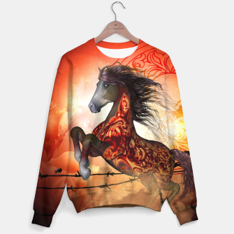 Thumbnail image of Awesome whorse with skulls Sweater, Live Heroes