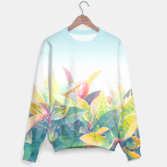 After the rain / Tropical Croton Leaves 4 Unisex sweater thumbnail image
