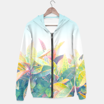 After the rain / Tropical Croton Leaves 4 Zip up hoodie thumbnail image