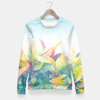After the rain / Tropical Croton Leaves 4 Women sweater thumbnail image