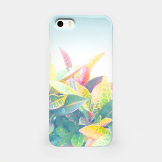 After the rain / Tropical Croton Leaves 4 iPhone Case thumbnail image