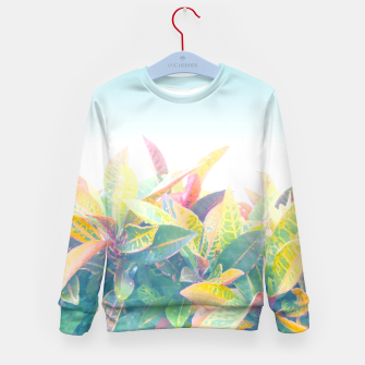 After the rain / Tropical Croton Leaves 4 Kid's sweater thumbnail image