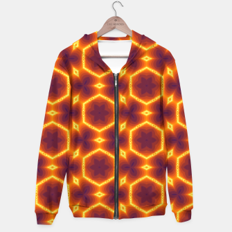 Thumbnail image of Vibrant Patterned Hoodie, Live Heroes
