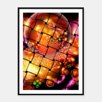 Thumbnail image of It's A Wacky Inter-Dimensional Stellar Nursery Weave Framed poster, Live Heroes